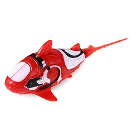 Wholesale electronic gifts fish - 1PCS Cute Childen Robotic Pet Holiday Gift Swimming Electronic Shark Activated Battery Powered Robo Swimmer Fish Toy