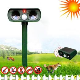 Repellente animale ad ultrasuoni online-Impermeabile Solar Powered-Motion Animal Repeller attivabile ecomarcia Repellente ad ultrasuoni Repellente Bird Anima Gardent Prodotto GGA391 10 PZ