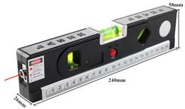 Luz da linha do laser on-line-FJS Laser Nível Nível Laser Horizon Cross Vertical Laser Light Com Fita De Medição De Linha De Marcação Ferramentas De Construção 4 Em 1