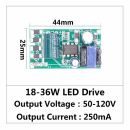 Wholesale constant current led power supplies - LED Driver 18W-36W Power Supply Constant Current 270-300mA Automatic Voltage Control Lighting  For LED Lights DIY