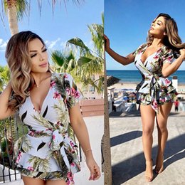 486c874cb052 Suit-dress Summer Sexy Three Layers Lotus Leaf Edge Printing Lin Tai Pants  jumpsuit plus size mini short for women amp rompers black clothes