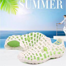 Wholesale Flip Hole - 6 Colors Summer Beach Shoes Hole Ventilation Breathable Casual Suandals Unisex Fashion Slip on Summer Shoes CCA9028 20pairs