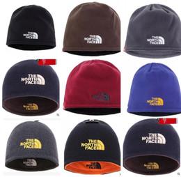 a078f5d6bc0fe bonnet gift Promotion Unisexe Marque NF Chapeau The North Réversible Beanie Hiver  chaud hommes Femmes Skull