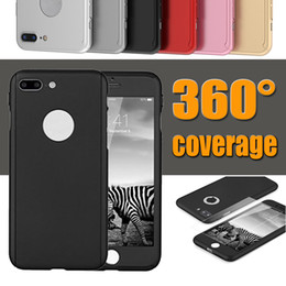 Wholesale Pink Body Protector - 360 Degree Ultra thin Full Body Protection Hard PC Full Cover Case With Tempered Glass Screen Protector For iPhone X 8 Plus 7 6 6S MOQ:50pcs