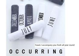 2019 toalhas de papel comprimido Toalha de algodão por atacado mensal Novos produtos para o lar criativo Limpe a toalha de rosto Personalizado presente logotipo Toalha