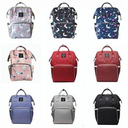 Wholesale Print Diapers - Diaper Bag Unicorn Multi-Function Waterproof Travel Backpack Nappy Bags for Baby Care Kids Backpacks Best Gifts 18 Styles DHL Free Shipping