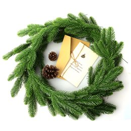 Wholesale Wholesale Artificial Xmas Trees - Wholesale-10Pcs Artificial Flower Fake Green Plants Pine Branches Christmas Tree For Christmas Party Decorations Xmas Tree Ornaments