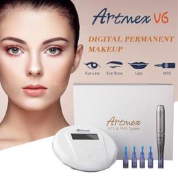 maquillage tactile Promotion 2018 Artmex V6 Professional machine de maquillage semi-permanente Kits de tatouage Système de MTS PMU Derma Pen Stylo de tatouage de lèvre de sourcil