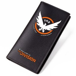 Wholesale Money Coins Games - Game Tom clancy's The Division Color Printing Men Long Wallet Pu Leather Money Coin Purse Male Pocket Card Holder Passport Case