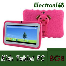 "Deutschland 2018 Hot Kids Marke Tablet PC 7 ""Quad Core kinder tablet Android 4.4 Allwinner A33 google player wifi großen lautsprecher schutzhülle 10 stücke Versorgung"