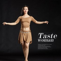 Wholesale belly dance ruffled skirts - NEW Modal Blouse+Short Skirt+Safty Shorts 3pcs set Belly Dance Costumes 5068