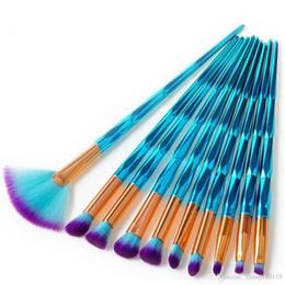 2018 Pro 2 Tipos de Maquiagem Azul Pó Sombra Corretivo Contour Blush Blending Escovas Olho Ferramenta Cosmética Cabelo Sintético Macio de