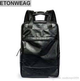 34413e2496 Discount korean leather backpack brands - Factory wholesale brand male bag  simple leather mens shoulder backpack
