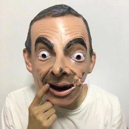 2019 máscara de zorro rojo Estrella divertida Mr Bean máscara realista Máscara de látex estrella de fabricación de risa látex divertido Mr Bean máscara traje de fiesta de la mascarada