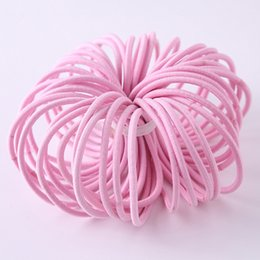 Wholesale Baby Hair Rubber Ponytail - New 100pcs lot Baby Girls Kids Tiny Hair Accessaries Hair Bands Elastic Ties Ponytail Holder Children Rubber 3mm