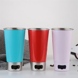 2019 apri di tazza Tazze da caffè portatili multifunzione Tazze da caffè con apribottiglie Bicchieri da cucina in acciaio inox Bar da cucina Grande bevanda 11hw ff sconti apri di tazza