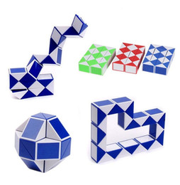 Wholesale magic snake shapes - Mini Creative Magic Snake Shape Toy Game 3D Cube Puzzle Twist Puzzle Toy Gift Random Intelligence Toys Supertop Gifts A705436