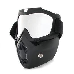 HOT Dust-proof Ciclismo Bicicleta Full Face Máscara À Prova de Vento Mais Quente de Inverno Cachecol Bicicleta Snowboard Esqui com anti-UV óculos Homens / Mulheres de Fornecedores de máscara de esqui de futebol