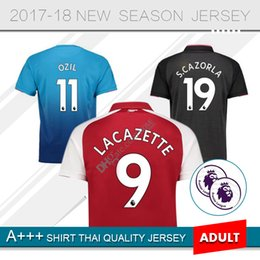 Wholesale Alexis Sanchez - Alexis jersey 2017 18 home Adult red WILSHERE RAMSEY GIROUD LACAZETTE OZIL Soccer Jersey 17 18 Alexis Sanchez Football Shirts