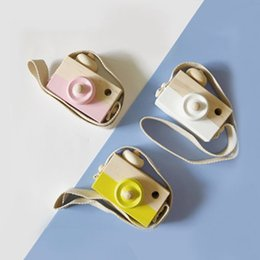 Wholesale articles for children - Lovely Cute Wooden Cameras Toys For Baby Kids Room Decor Furnishing Articles Child Birthday Gifts Nordic European Style 8 Colors