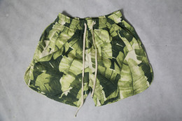 2021 шорты для хип-хопа Mens Green Leaves Printed Casual Board Shorts Male Beach Athletic Shorts Relaxed Hip Hop Streatwear Free Shipping