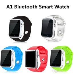 medidor de ips Rebajas Smart Watch A1 Clock Sync Notifier, compatible con la conectividad de la tarjeta SIM TF para ios Android Smartwatch