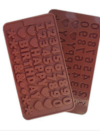 Bolos letras números on-line-1 PCS Amor, Número, Letras Forma Molde De Silicone, Geléia, Chocolate, Sabão, Decoração Do Bolo de Cozinha DIY, Bakeware L040
