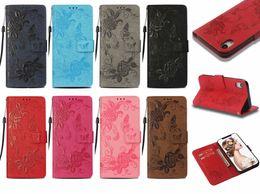 Étui portefeuille en cuir PU papillon fleur fentes pour iPhone 6.1 2018 6.5 X 8 8 Plus 7 6 6 S Plus ? partir de fabricateur