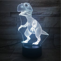 Canada Nouvelle télécommande 3D debout dinosaures lampe de table USB coloré 7 changement de couleur LED Home Party chambre décorative Night Light cadeau wn313 Offre
