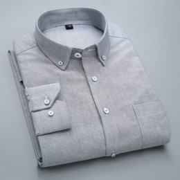 Vestido blanco para hombres online-100% Coon Plaid Stripe Formal Dress Shirts Hombres Ropa blanca 2018 Otoño Invierno Europe America Style Plus Size Shirts for Guys