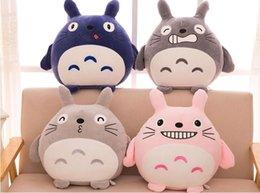 Japon anime Totoro Peluş Bebek Yumuşak Oyuncak Çocuk El Yapımı Doğum Günü Hediyesi Yastık Sıcak nereden sıcak japon bebekleri tedarikçiler