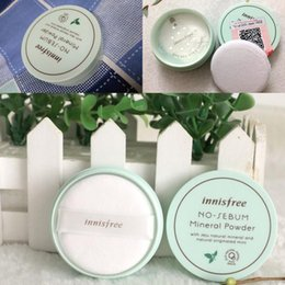 Wholesale Mineral Foundation Wholesale - Brand Innisfree No Sebum Mineral Powder + Blur Powder Oil Control Loose Powder Makeup Setting Foundation 5g