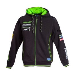 2019 chaqueta de moto para hombre Nuevas sudaderas con capucha 2018 Moto GP Tech 3 para Yamaha M1 Racing Team Chaqueta deportiva a prueba de viento de motocicleta para hombre Sudaderas con cremallera para hombre rebajas chaqueta de moto para hombre