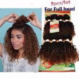 2019 curly weave estilos cabelo indiano 8 peças de ombre kinky curly humano tecer cabelo barato Kinky Curly Hair Weave Bundles 8 polegada de cabelo cru indiano afro estilos encaracolados curly weave estilos cabelo indiano barato
