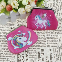 Wholesale change purse hasp - Mini Unicorn cartoon Coin Purses girl hasp change unicorn fashion Wallet Money Bag Small Pocket FFA546 120PCS