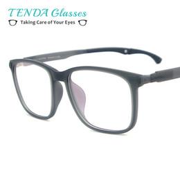 Wholesale Lightweight Prescription Eyeglasses - Lightweight TR90 Men Small Prescription Eyeglass Frame Full Rim Square Glasses With Anti Slip Holder For Multifocal Lens Myopia