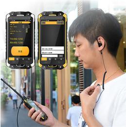 4,5-zoll-bildschirm-handy online-IP68 4G imprägniern PTT Telefon 4.5 Zoll Octa Kern NFC OTG SOS UHF Funksprechgerät Android Smartphone 3GB RAM 32GB ROM LEMHOOV V18 Handy