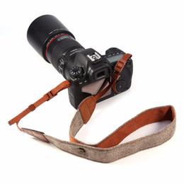 Wholesale canvas straps for bags - Camera Strap Vintage Belt for Sony for Nikon for Canon Pentax DSLR Shoulder Neck Vintage Camera Neck Strap Universal