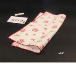 Wholesale White Cotton Square Scarf - Men's cravat scarf Handkerchiefs Cotton Pocket Square Hankies Men Business Square Pockets Hanky Handkerchief Fashion Ties Accessories