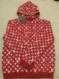 Wholesale Fans Letter - High Quality 2018 Cruz Backham Fans Made Fashion Men Women Box Logo Hoodie Casual Brown Red Sweatshirt Streetwear Hooded Hoody