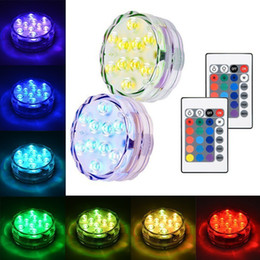 Wholesale tea light candles free shipping - Wedding Decoration Battery Waterproof RGB Tea MINI LED Light With 24Key Controller For Christmas Halloween Party Free Shipping