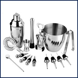 cocktail bar tool set shaker Coupons - Stainless Steel Bar Tools Eco Friendly Creative Removable Cocktail Shakers Exquisite Wine Set Fashion WIth Ice Bucket 86oy jj
