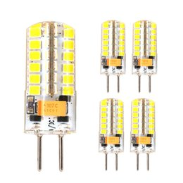 Wholesale boat chandelier - GY6.35 LED Bulb 12V AC DC 4W 9W Silicone Boat Lamp 48 SMD 2835 Replace Halogen Lamps 72 SMD 2835 Corn Chandelier Crystal Lights