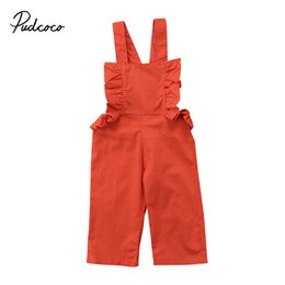 Wholesale Tutu Dress 18 Months - Fashion Girls Dress Toddler Kids Baby Girls Strap Solid Jumpsuit Romper Children Girls Outfits Set Clothes 1-6T