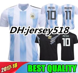 Wholesale Shirt S - Argentina 2018 Soccer Jersey thai quality Argentina home away Jerseys DYBALA soccer Shirt Messi Aguero Di Maria Mascherano football uniform