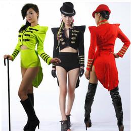 2019 colas de abrigo Baile Jazz Ropa Escenario Vestido de Esmoquin Moda Esmoquin Dj Cantante Ds Disfraces Moda Escudo Cola Rendimiento Desgaste rebajas colas de abrigo