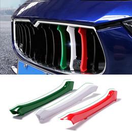autocollants de sport automobile Promotion Car-styling Grilles de calandre avant garniture Sport Strips Couverture Motorsport Power Performance Stickers pour Maserati Ghibli Quattroporte Accessoires