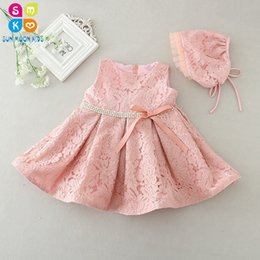 c3e308cf8 Latest Set Of One Year Old Baby Girl Baptism Dress Princess Wedding  Vestidos 2018 Baby Girl Christening Gown With Hat 3-24month