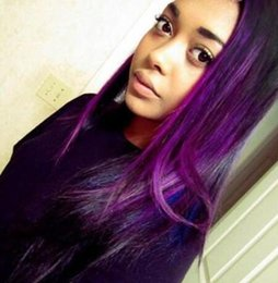 Trama del pelo humano del color púrpura online-Ombre Color 1B Trama de Pelo Púrpura 3 Paquetes Pelo Virginal Brasileño de la Virgen Teje la Raíz Oscura Ombre Pelo Humano Brasileño Recto
