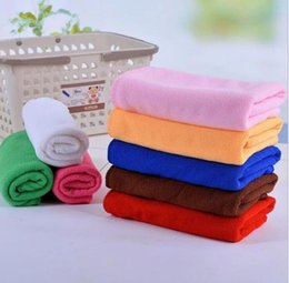 Wholesale Microfiber Wax - 30*60cm Microfiber Car Cleaning Towel Car Cleaning Wash Clean towel Microfiber Detailing Polishing Scrubbing Waxing Hand Towels KKA3880